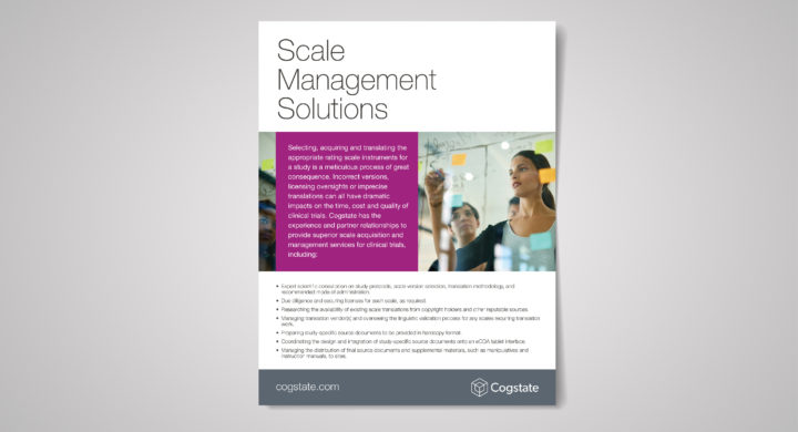 Scale Management with Cogstate