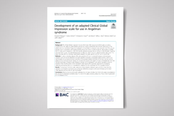 Development of an adapted Clinical Global Impression scale for use in Angelman syndrome